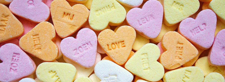 Hartensnoepjes, want liefde gaat door de maag!
